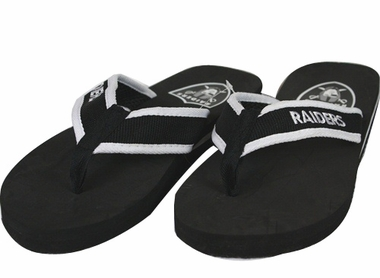 Oakland Raiders Contoured Flip Flop Sandals