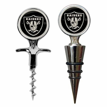 Oakland Raiders Corkscrew and Stopper Gift Set