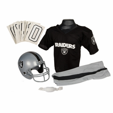 Oakland Raiders Deluxe Youth Uniform Set - Medium