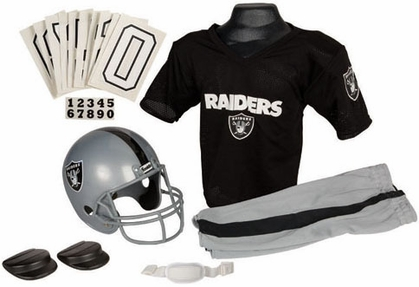 Oakland Raiders Deluxe Youth Uniform Set - Small