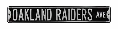 Oakland Raiders Dr Black Street Sign