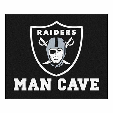 Oakland Raiders Economy 5 Foot x 6 Foot Man Cave Mat