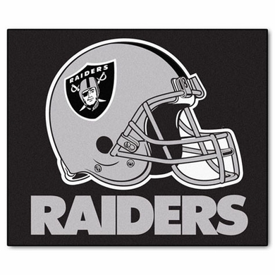 Oakland Raiders Economy 5 Foot x 6 Foot Mat