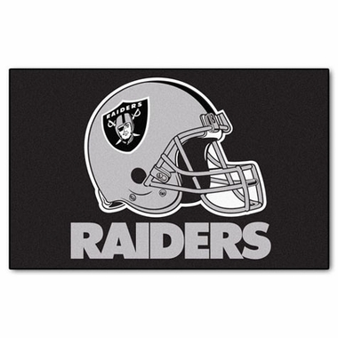 Oakland Raiders Economy 5 Foot x 8 Foot Mat