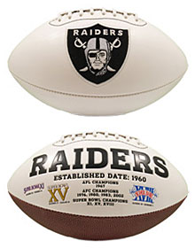 Oakland Raiders Full Size Embroidered Signature Series Football