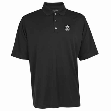 Oakland Raiders Mens Exceed Polo (Team Color: Black)