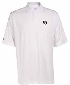 Oakland Raiders Mens Exceed Polo (Color: White) - XXX-Large