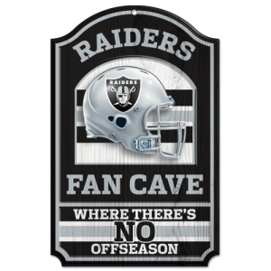 Oakland Raiders Fan Cave Wood Sign