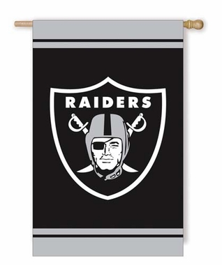Oakland Raiders Fiber Optic Flag