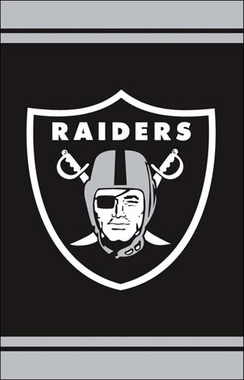Oakland Raiders Fiber Optic Garden Flag