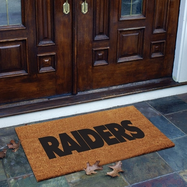 Oakland Raiders Flocked Coir Doormat