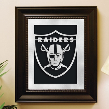 Oakland Raiders Framed Laser Cut Metal Wall Art