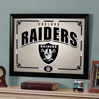 Oakland Raiders Framed Mirror