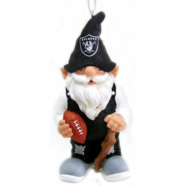 Oakland Raiders Gnome Christmas Ornament