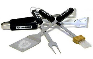 Oakland Raiders Grill BBQ Utensil Set