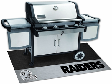 Oakland Raiders Grill Mat