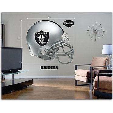 Oakland Raiders Helmet Fathead Wall Graphic