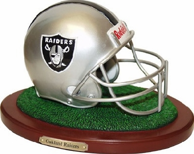 Oakland Raiders Helmet Figurine