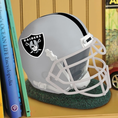 Oakland Raiders Helmet Shaped Bank