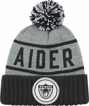 Oakland Raiders High 5 Vintage Cuffed Pom Hat