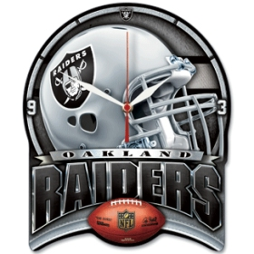 Oakland Raiders High Definition Wall Clock