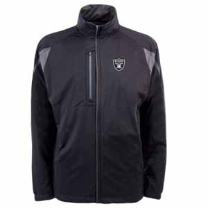 Oakland Raiders Mens Highland Water Resistant Jacket (Team Color: Black) - Large