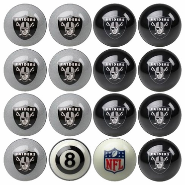 Oakland Raiders Home and Away Complete Billiard Ball Set