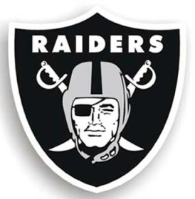 Oakland Raiders Individual Car Magnet