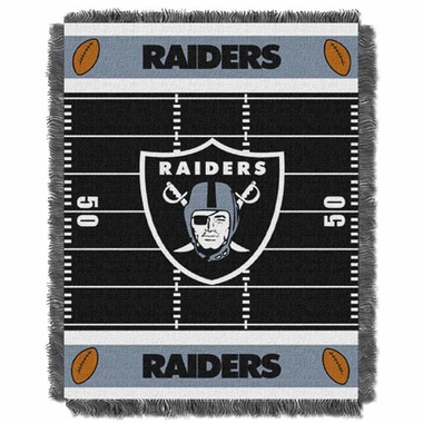 Oakland Raiders Jacquard BABY Throw Blanket