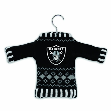 Oakland Raiders Knit Sweater Ornament (Set of 3)