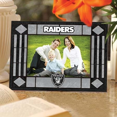 Oakland Raiders Landscape Art Glass Picture Frame