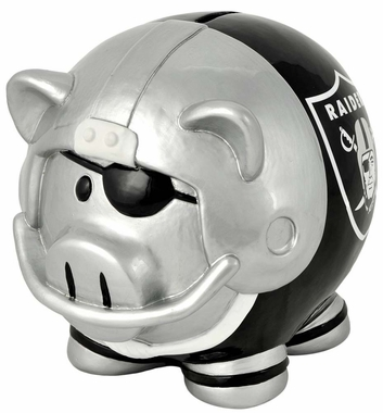 Oakland Raiders Piggy Bank - Thematic Large