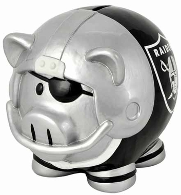 Oakland Raiders Large Thematic Piggy Bank