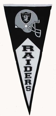 Oakland Raiders Large Wool Pennant
