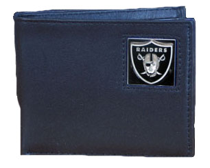 Oakland Raiders Leather Bifold Wallet (F)