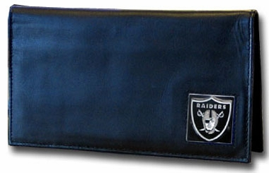 Oakland Raiders Leather Checkbook Cover (F)