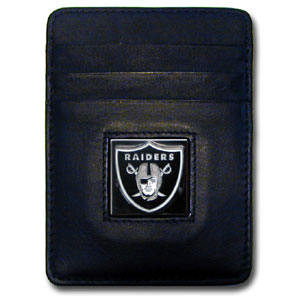 Oakland Raiders Leather Money Clip