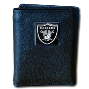 Oakland Raiders Leather Trifold Wallet (F)