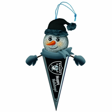Oakland Raiders Light Up Snowman Pennant Ornament (Set of 2)