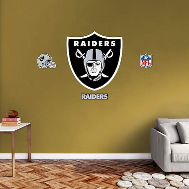 Oakland Raiders Logo Fathead Wall Graphic