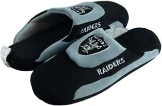 Oakland Raiders Low Pro Scuff Slippers - Large