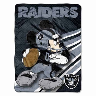 Oakland Raiders Mickey Mouse Microfiber Throw