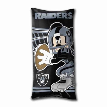 Oakland Raiders Mickey Mouse YOUTH Body Pillow