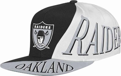 Oakland Raiders Mitchell & Ness The Skew Retro Vintage Snap Back Hat