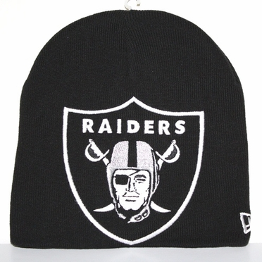 Oakland Raiders New Era Big One Too Cuffless Knit Hat