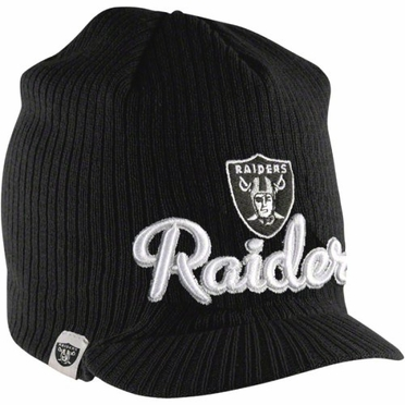 Oakland Raiders New Era NFL Retro Viza Visor Knit Hat