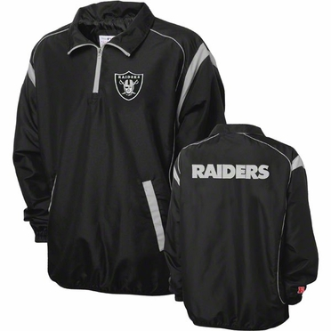 Oakland Raiders NFL Red Zone 1/4 Zip Black Jacket