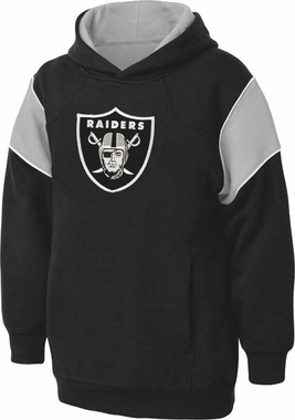 Oakland Raiders NFL YOUTH Color Block Pullover Hooded Sweatshirt