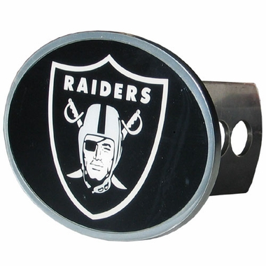 Oakland Raiders Oval Metal Hitch Cover