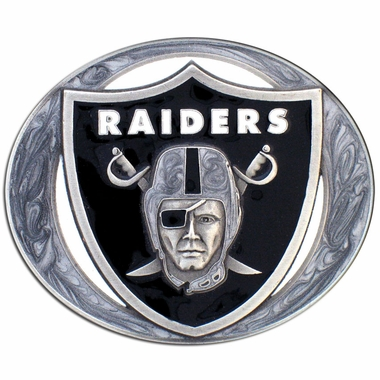 Oakland Raiders Enameled Belt Buckle